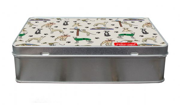 Selina-Jayne Whippet Dogs Designer Treat Tin